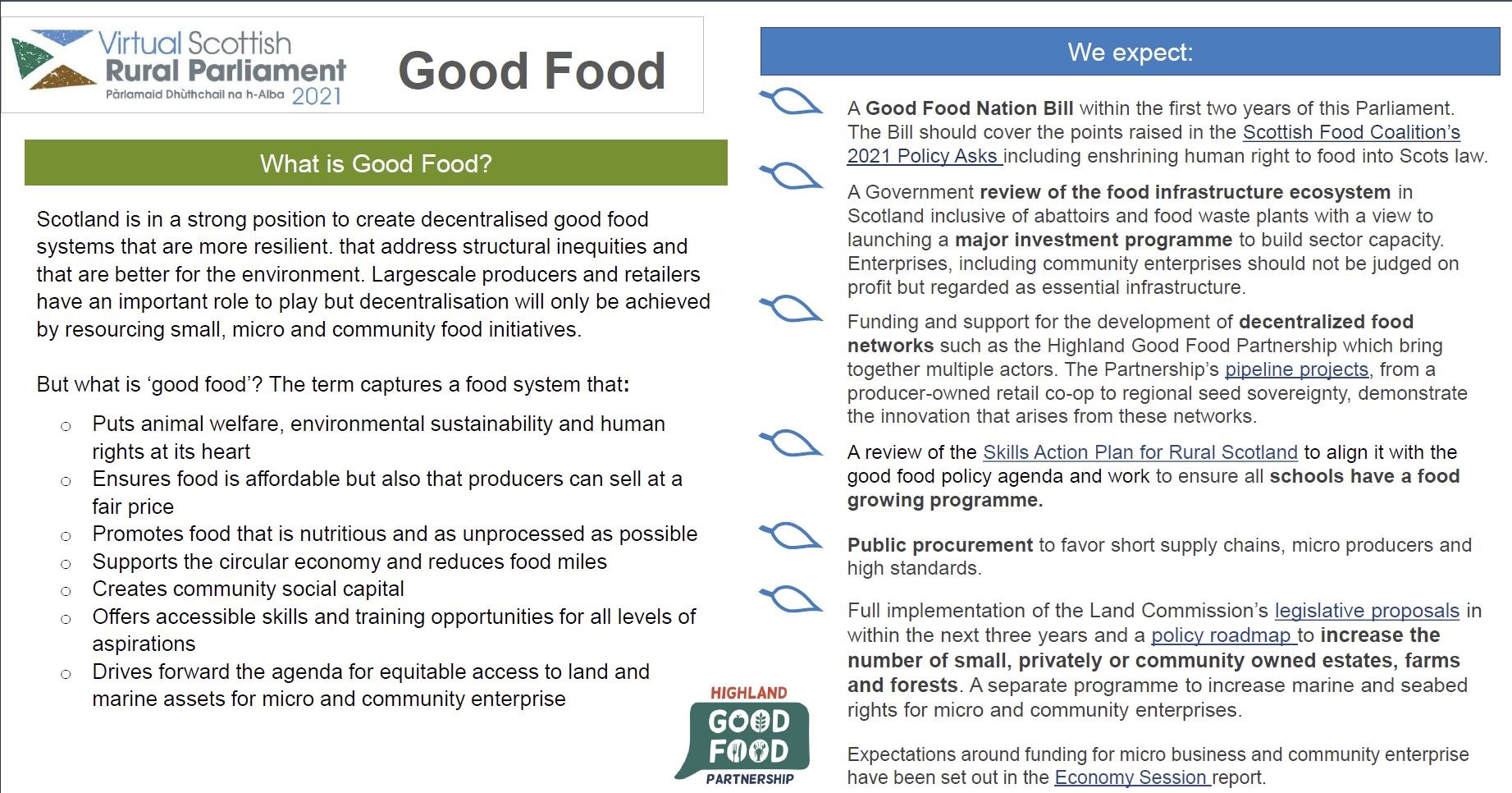 vRSP21 Session Recommendations - Good Food
