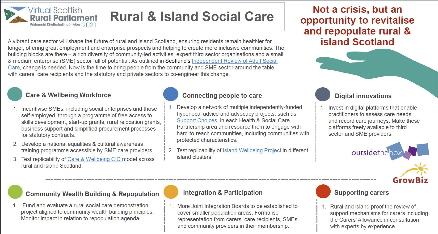 vRSP21 Session Recommendations - rural and island social care